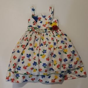 SYLVIA WHYTE Vintage White Floral Dress size 5